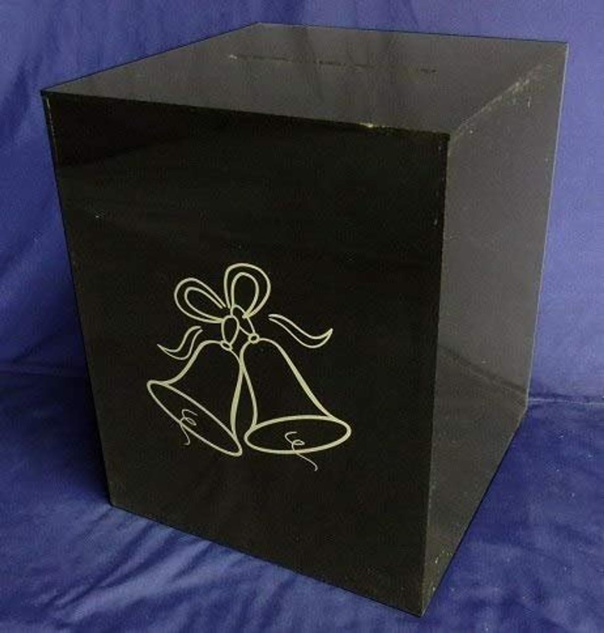 Acrylic Wedding Card Box, Black