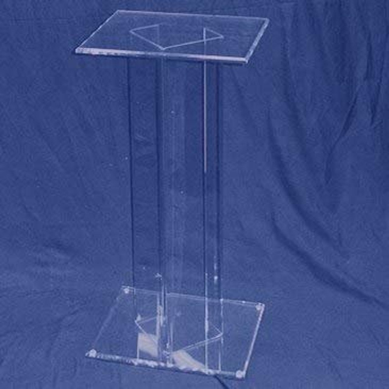 Square Acrylic Pedestal, 30 inch, Clear
