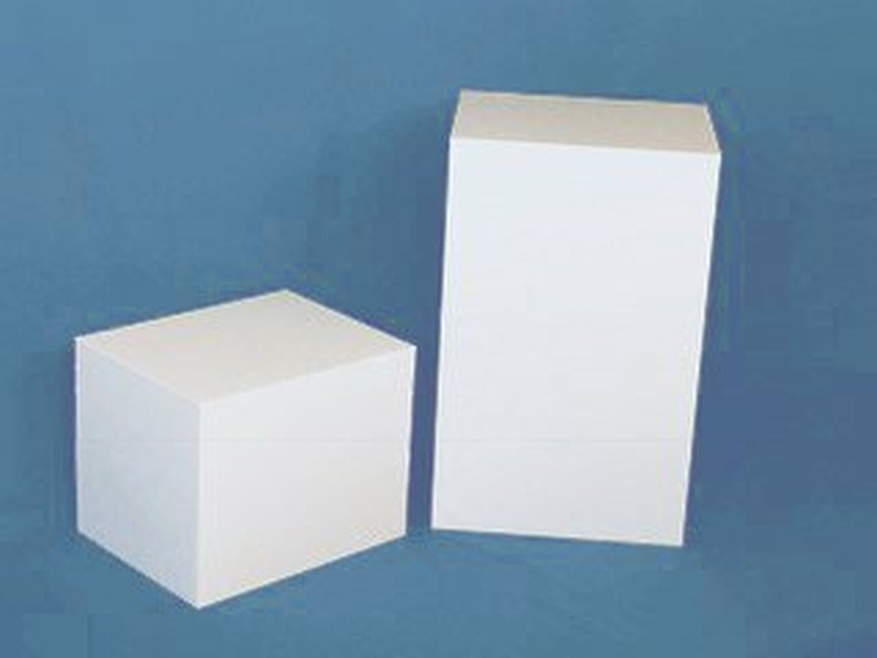 Rectangular Acrylic Display Cube - Gloss Finish - White