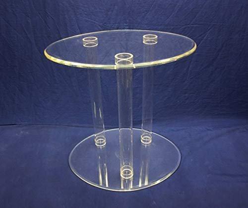 Acrylic Tubular Table, Clear, 24 Inch