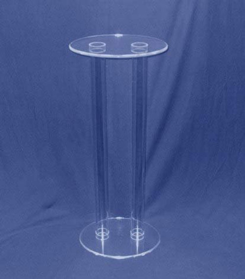 Clear Stands Tubular Oval Acrylic Pedestal, 30 Inches Tall