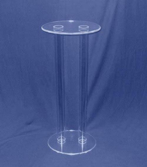 Tubular Oval Acrylic Pedestal, 24 Inches Tall