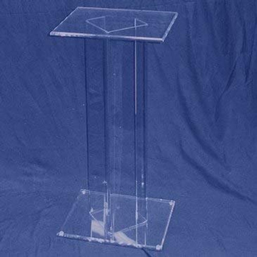 Square Acrylic Pedestal, 24 inch, Clear