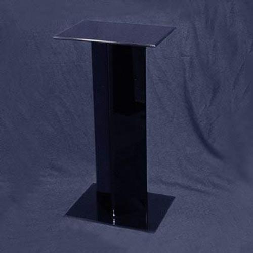 Square Acrylic Pedestal, 24 inch, Black