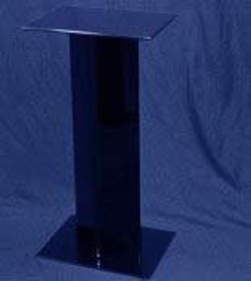 Rectangular Acrylic Pedestal, 24 Inch, Black