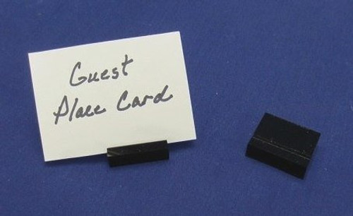 LUCITE GUEST PLACE CARD HOLDERS - BLACK (100 pk.)