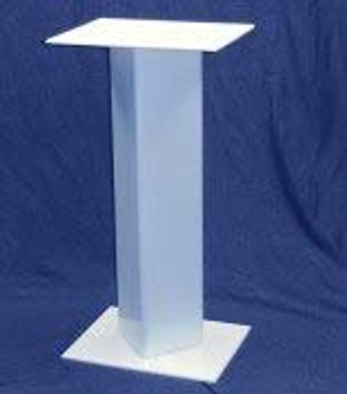 Rectangular Acrylic Pedestal, 24 Inch, White