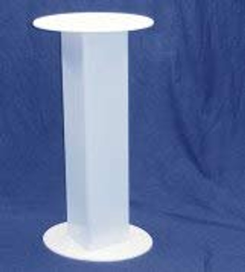 Clear Stands Oval Acrylic Pedestal, 30 Inch, White