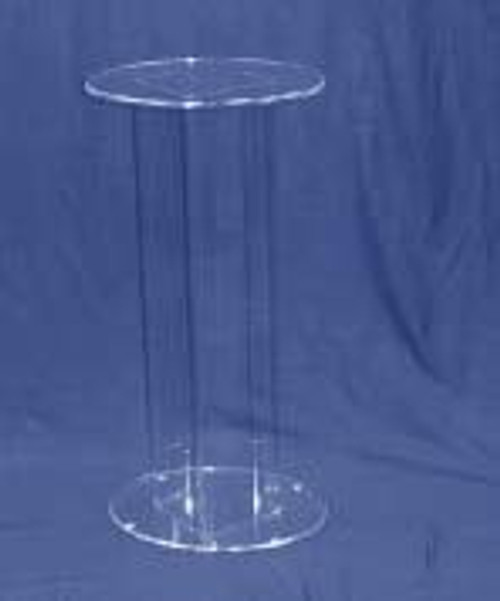 Oval Acrylic Pedestal, 30 Inch, Clear