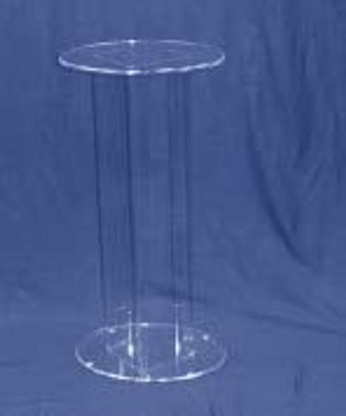 Oval Acrylic Pedestal, 24 Inch, Clear