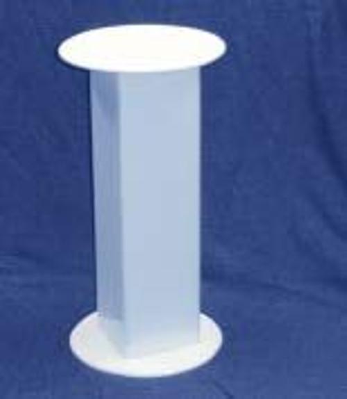 Circular Acrylic Pedestal, 30 Inch, White