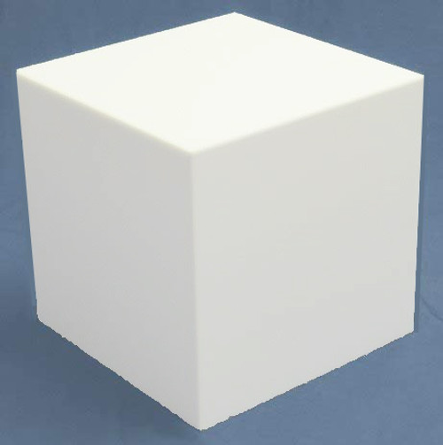 Clear Stands White Large Square Acrylic Display Cube, 18 Inch