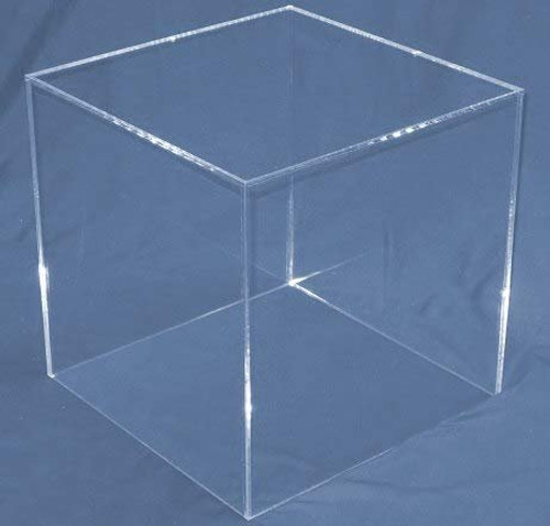 Clear Large Square Acrylic Display Cube, 16 Inch