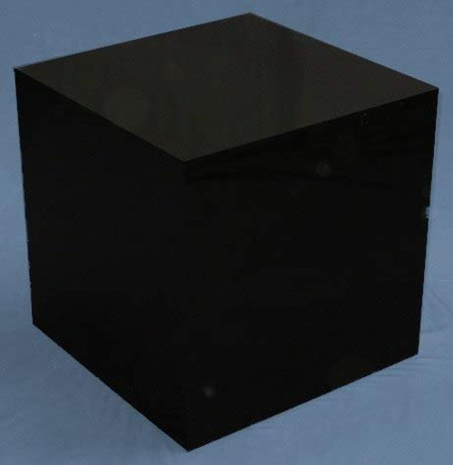 Clear Stands Black Large Square Acrylic Display Cube, 16 Inch