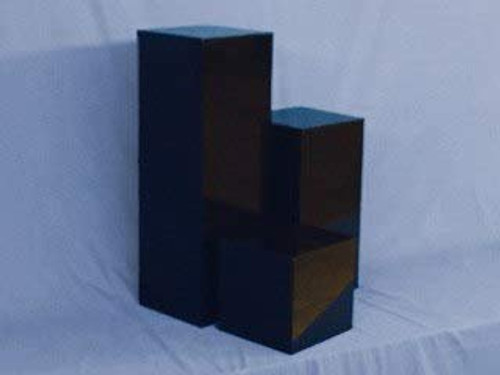 Clear Stands Black Square Acrylic Display Cube, 18 Inch