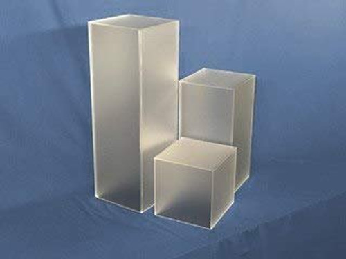 Clear Stands Frosted Square Acrylic Display Cube, 36 Inch