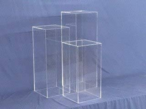 Clear Square Acrylic Display Cube, 48 Inch