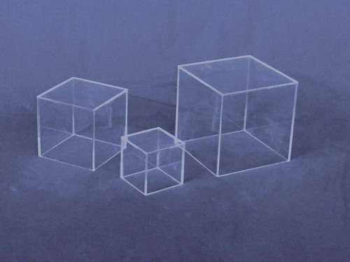 Economy Cubes - Clear Square Cube 4 inch, Case of 8