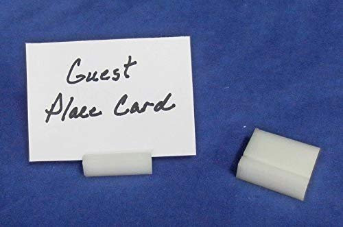 Lucite Guest Place Card Holders, White, 100 Pack