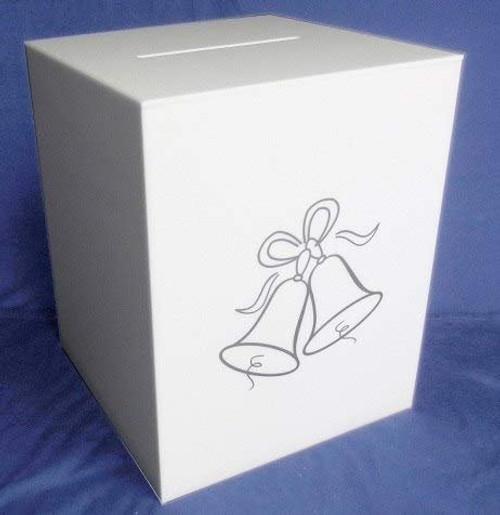 Acrylic Wedding Card Box, White