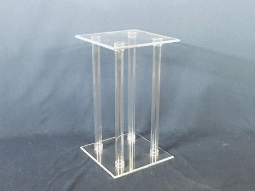 Clear Lucite Flower Stand, 24 Inch