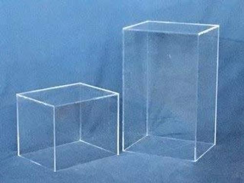 Rectangular Acrylic Display Cube - Clear, 24 Inch