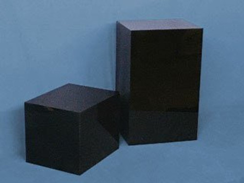 Rectangular Acrylic Display Cube – Gloss Finish Black