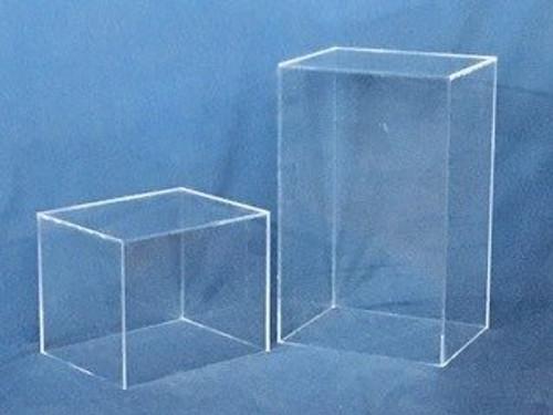 Rectangular Acrylic Display Cube - Clear