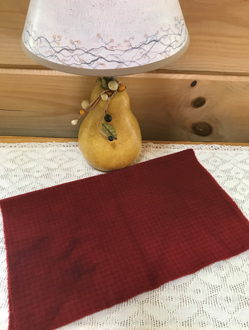 Holly Berry Red  on Camel Houndstooth
