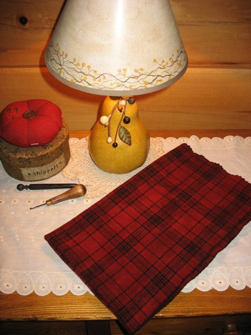 Holly Berry Red  on Glen Plaid