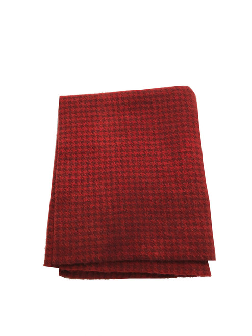Delicious Red on Gray Houndstooth