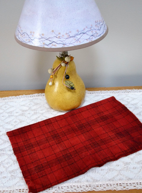 Moroccan Red, Dark on Glen Plaid