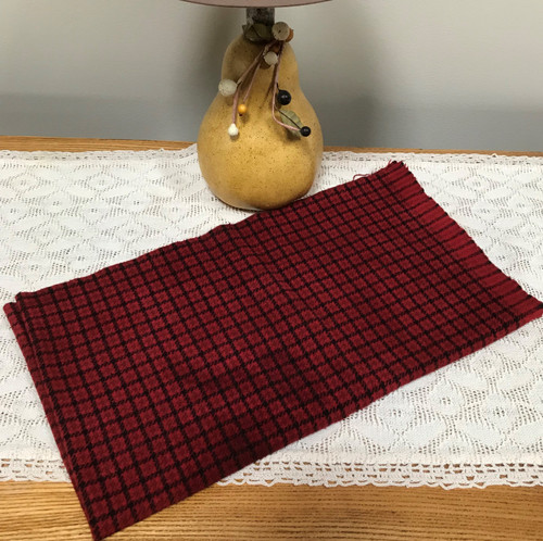 Cardinal Red on Black and Loden Windowpane