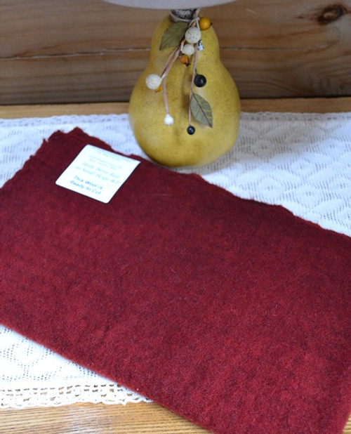 Holly Berry Red on Small Beige Windowpane
