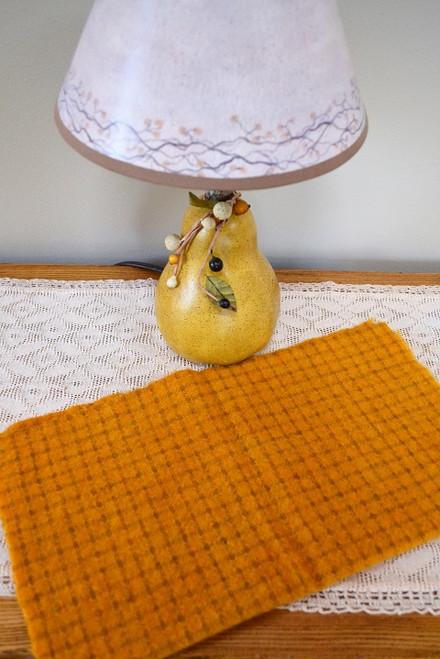 Mustard on Small Beige Windowpane