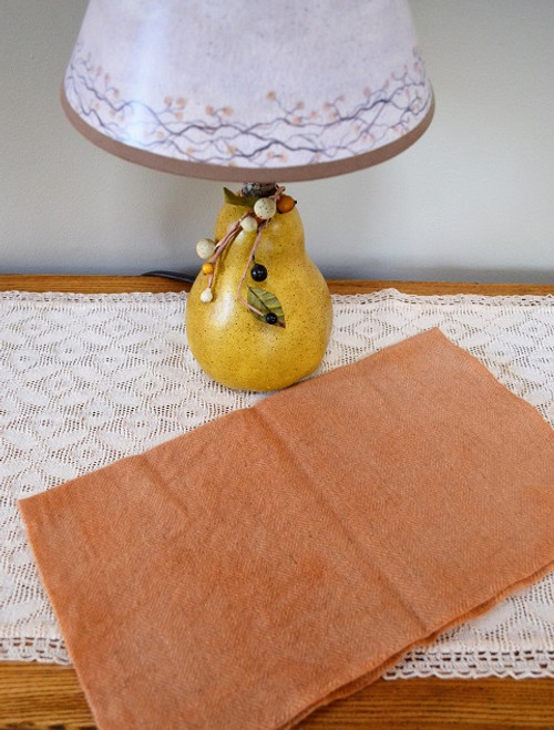 Apricot on Camel Herringbone