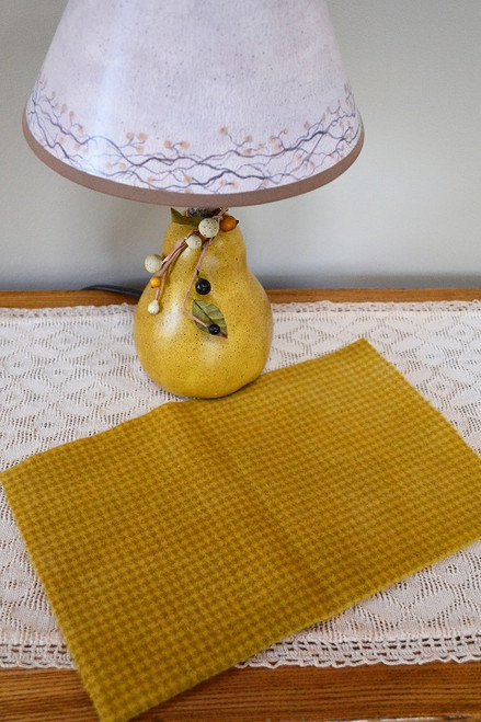 California Gold on Camel Houndstooth