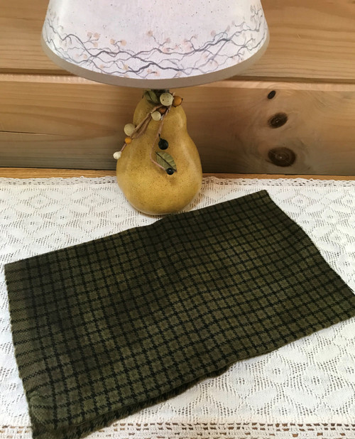 Brass Bell on Black and Loden Windowpane