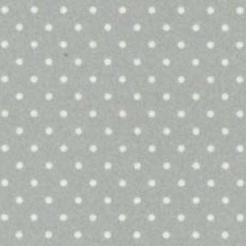 Woolies Flannel  - Soft Grey Dots