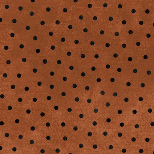 Woolies Flannel  - Orange Dots (Small)