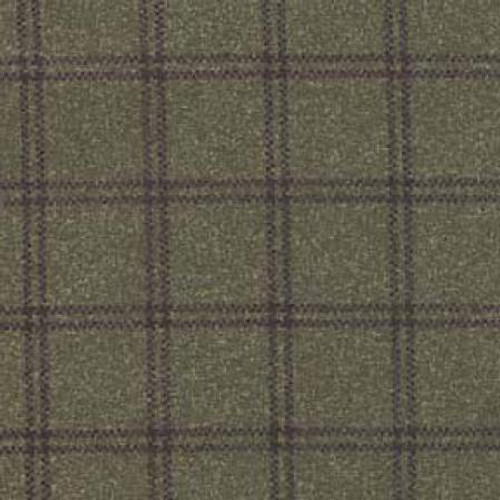 Woolies Flannel  - Deep Green Double Weave