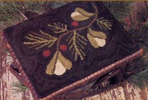 Winter Sprig on Monk's Cloth