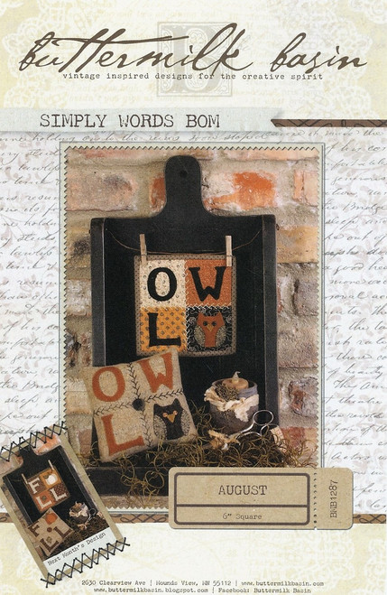 Simply Words BOM - August
