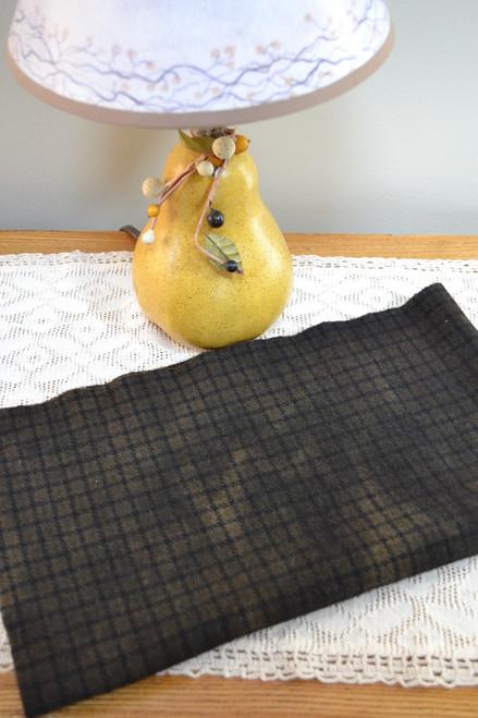 Black Licorice on Black & Loden Windowpane