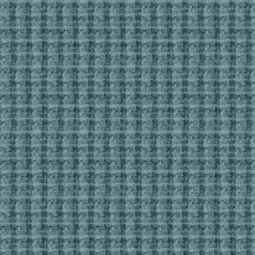 Woolies Flannel  - Teal Large Houndstooth