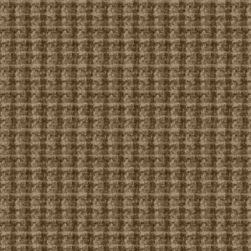 Woolies Flannel  - Tan Large Houndstooth