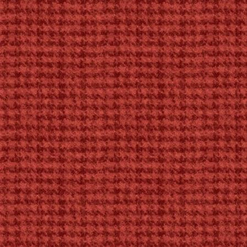 Woolies Flannel  - Light Red Houndstooth