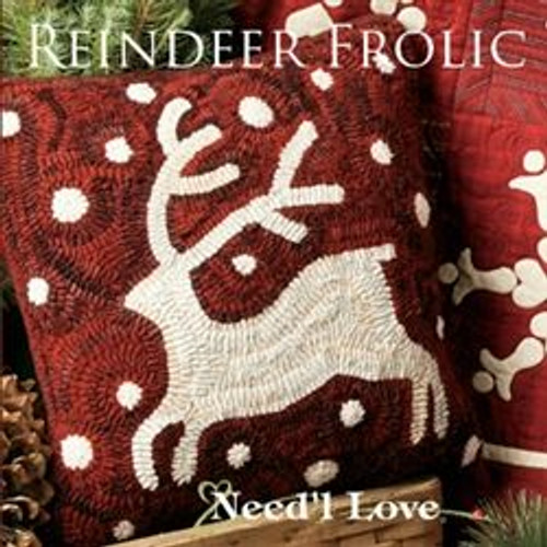 Reindeer Frolic on Monk's Cloth