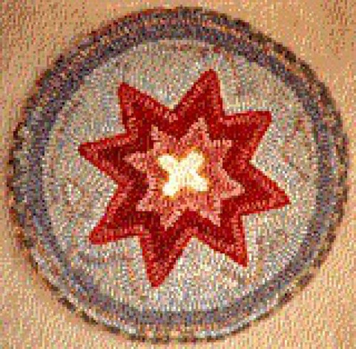 Primitive Star on Linen