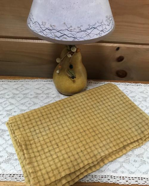 Soft Gold on Small Beige Windowpane